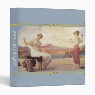 """Leighton's """"winding the skein""""  crafts/photo/memor 3 ring binder"""