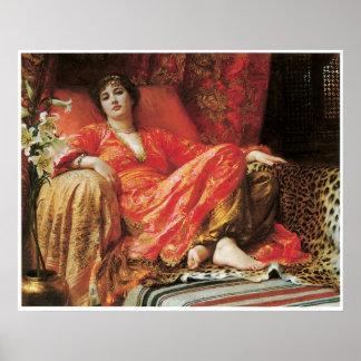 Leila, sir 1892 Frank Dicksee Poster