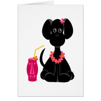 LeiLani the Black Lab Card