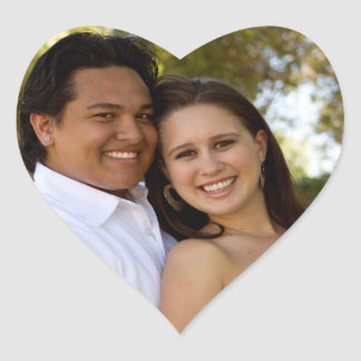 Leilani y Mateo Calcomanía Corazón