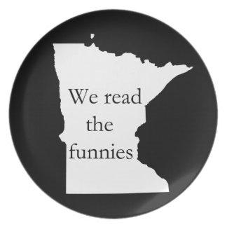 Leímos la placa del humor del manganeso de Funnies Plato Para Fiesta