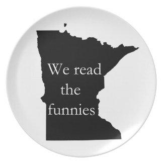 Leímos la placa del humor del manganeso de Funnies Platos Para Fiestas