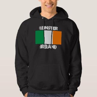 Leinster, Irlanda con la bandera irlandesa Pulóver Con Capucha