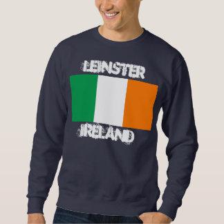 Leinster, Irlanda con la bandera irlandesa Sudaderas Encapuchadas