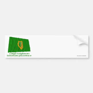 Leinster Province Waving Flag with Name Bumper Sticker