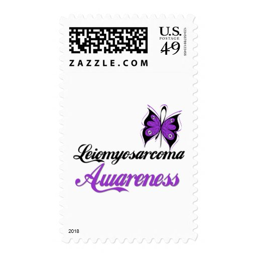 Leiomyosarcoma Awareness Butterfly Postage Stamps