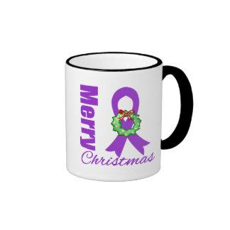 Leiomyosarcoma  Awareness Merry Christmas Ribbon Mug