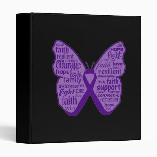 Leiomyosarcoma Butterfly Collage of Words Binders