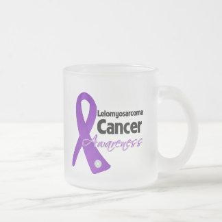 Leiomyosarcoma Cancer Awareness Ribbon 10 Oz Frosted Glass Coffee Mug