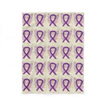 Leiomyosarcoma Cancer Awareness Ribbon Blankets