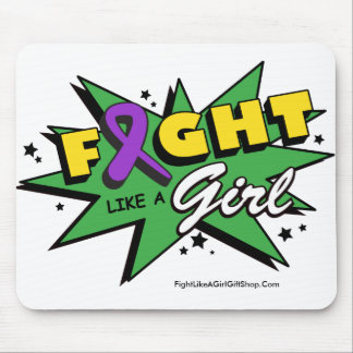 Leiomyosarcoma Cancer Fight Like A Girl POW! Mouse Pad