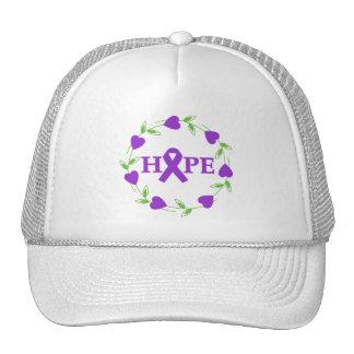 Leiomyosarcoma Cancer Hearts of Hope Trucker Hats