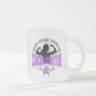 Leiomyosarcoma Cancer Tough Survivor 10 Oz Frosted Glass Coffee Mug