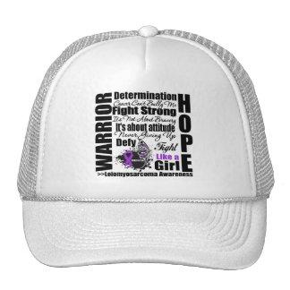 Leiomyosarcoma Cancer Warrior Fight Slogans Trucker Hat