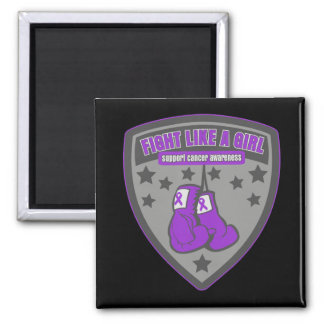 Leiomyosarcoma Cancer Wear Fight Like A Girl Patch Fridge Magnets