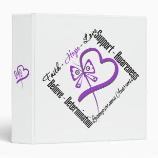 Leiomyosarcoma Faith Hope Love Butterfly Binder