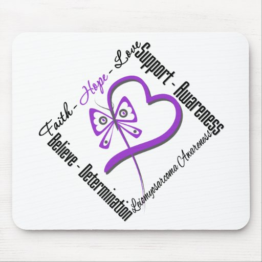 Leiomyosarcoma Faith Hope Love Butterfly Mouse Pad