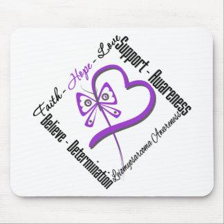 Leiomyosarcoma Faith Hope Love Butterfly Mouse Pad
