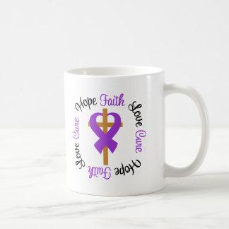 Leiomyosarcoma Faith Hope Love Cross Classic White Coffee Mug