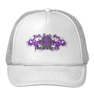 Leiomyosarcoma Faith Love Hope Deco Heart Hat
