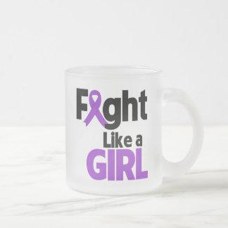 Leiomyosarcoma Fight Like a Girl 10 Oz Frosted Glass Coffee Mug