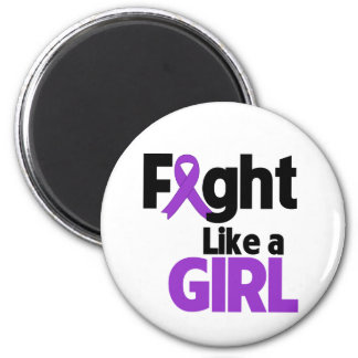 Leiomyosarcoma Fight Like a Girl 2 Inch Round Magnet