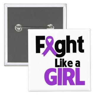 Leiomyosarcoma Fight Like a Girl 2 Inch Square Button