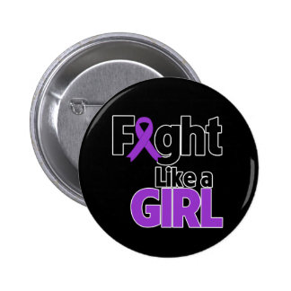 Leiomyosarcoma Fight Like a Girl 2 Inch Round Button