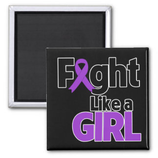 Leiomyosarcoma Fight Like a Girl 2 Inch Square Magnet