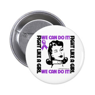 Leiomyosarcoma - Fight Like A Girl - We Can Do It 2 Inch Round Button