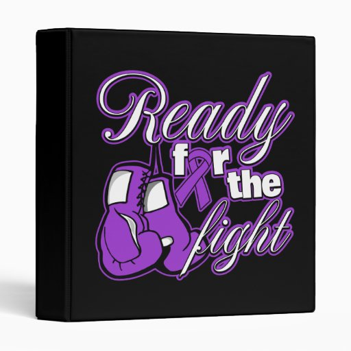 Leiomyosarcoma Gloves Ready For The Fight Vinyl Binders