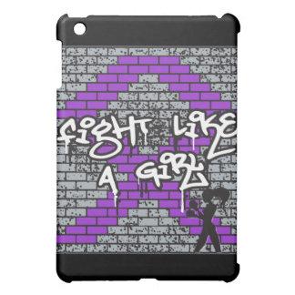 Leiomyosarcoma Graffiti Wall Fight Like A Girl iPad Mini Cases