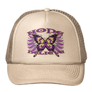 Leiomyosarcoma Hope Believe Butterfly Trucker Hat