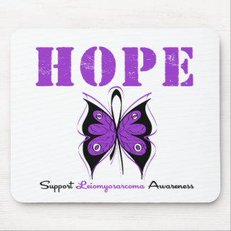 Leiomyosarcoma Hope Butterfly Mouse Pads