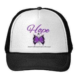 Leiomyosarcoma Hope Butterfly Ribbon Trucker Hats