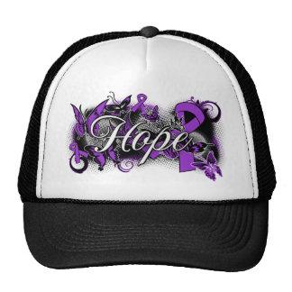 Leiomyosarcoma Hope Garden Ribbon Mesh Hat