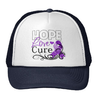 Leiomyosarcoma Hope Love Cure Mesh Hat