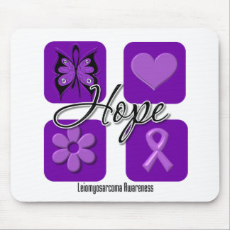 Leiomyosarcoma Hope Love Inspire Awareness Mouse Pads
