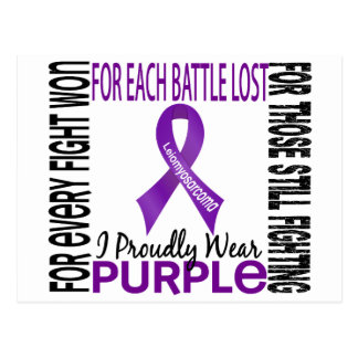 Leiomyosarcoma I Proudly Wear Purple 2 Postcard