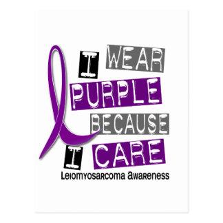 LEIOMYOSARCOMA I Wear Purple Because I Care 37 Postcard