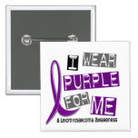 LEIOMYOSARCOMA I Wear Purple For Me 37 Buttons