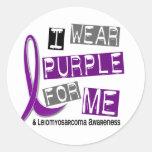 LEIOMYOSARCOMA I Wear Purple For Me 37 Round Stickers