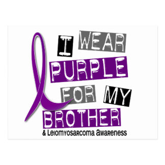 LEIOMYOSARCOMA I Wear Purple For My Brother 37 Postcard