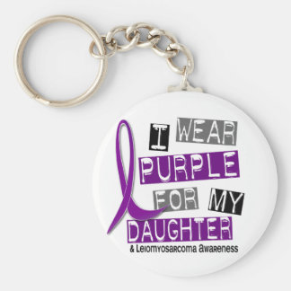LEIOMYOSARCOMA I Wear Purple For My Daughter 37 Keychain