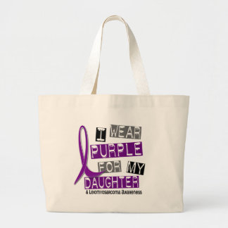 LEIOMYOSARCOMA I Wear Purple For My Daughter 37 Large Tote Bag
