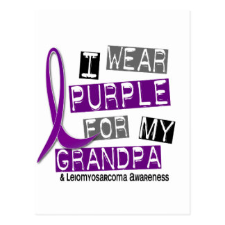 LEIOMYOSARCOMA I Wear Purple For My Grandpa 37 Postcard
