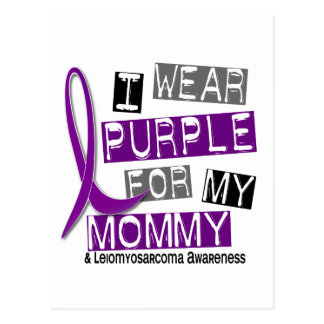 LEIOMYOSARCOMA I Wear Purple For My Mommy 37 Postcard