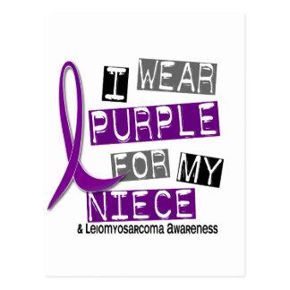 LEIOMYOSARCOMA I Wear Purple For My Niece 37 Postcard