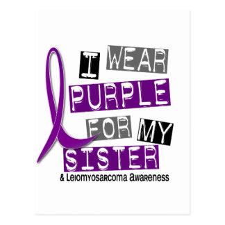 LEIOMYOSARCOMA I Wear Purple For My Sister 37 Postcard