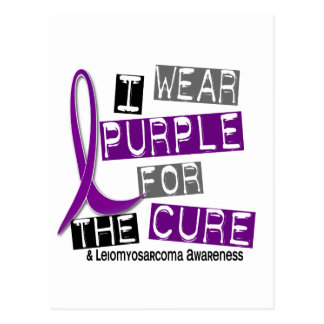 LEIOMYOSARCOMA I Wear Purple For The Cure 37 Postcard